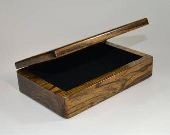 Black Limba Flip-top Box