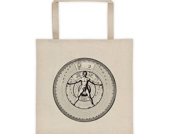 Tote bag 16th Century Anatomy Astrology Alchemy Design