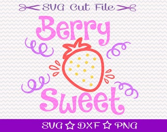 Little Girl SVG File /  SVG File for Silhouette / Berry Sweet SVG / Baby Shirt svg / Toddler Shirt svg / Girly SVg