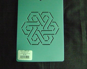 Sashiko Japanese Embroidery Stencil 4 in. Oriental Motif Block/Quilting