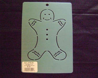 Quilting Stencil 5 in. Gingerbread Man Block/Embroidery/Holiday Crafting