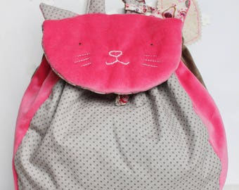 Cat backpack to personalize with first name