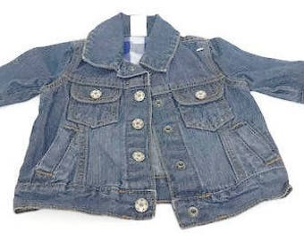 Denim Carter's Jacket Size 3 months Blue Jean Baby Girl Jacket