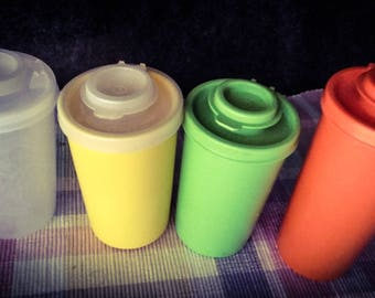 Tupperware  Spice Containers  Assorted Colors and Sizes  PreOwned in Excellent Condition