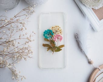 Pressed Flower Handmade iPhone 6/ 6S Case from Spring in Eden- Hydrangea/ Gift for her/ Purple/ Pink/ Blue/ White