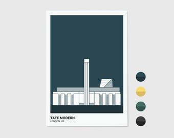 Tate Modern, London Print | London Artwork | London Illustration | Architecture Print | City Print