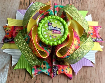 Shoppie Inspired Boutique Bow Girls Boutique Bow Layered Boutique Bow Stacked Hair Bow