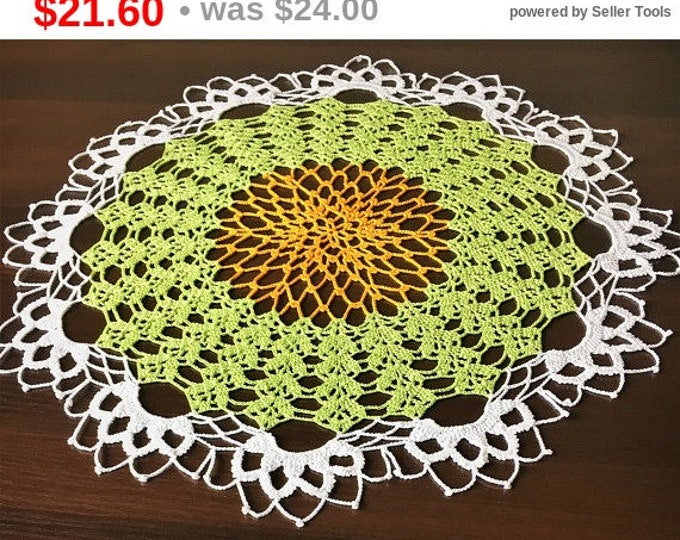 Round tablecloth, Rustic decor, Crochet coaster, Kitchen coasters, Coffee Table Doily, Crochet table runner, Lace doilies, tablecloth.