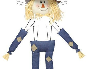 Scarecrow, Wreath Scarecrow, Plush Scarecrow, Wreath Enhancement, Scarecrow Wreath, Plush scarecrow for wreath, Fall sign, wreath sign