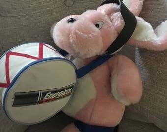 Rare Energizer Bunny Plush with drum , flip flops and Sunglasses !