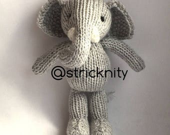 Handknitted Baby Elephant, newborn props toys, baby toys