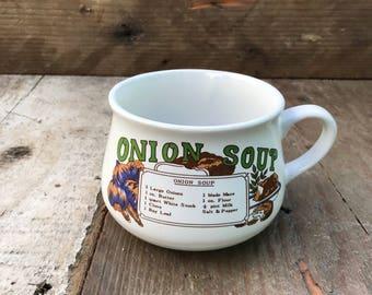 Vinatge Onion Soup Bowl