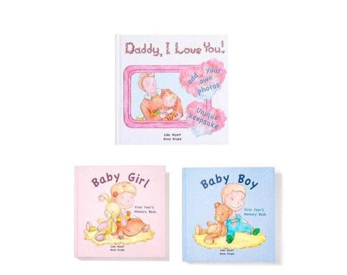 Daddy, I Love You! and Baby Girl & Baby Boy bundle - Choose from 3 Hair/Skin Colour Options