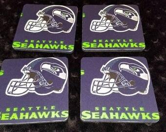 Seattle Seahawks 4 Piece Coaster Set