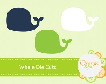 Whale Die Cuts, Whale Confetti, Table Confetti, Whale Party Theme Die Cuts