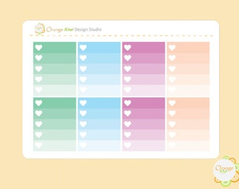 Marble Weekly Kit Ombre Checkbox Planner Stickers, Erin Condren Life Planner, Happy Planner, Filofax, Checklist Stickers, Checkbox Stickers