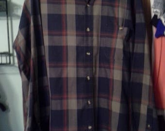 Trent mens button down long sleeve shirt  size large