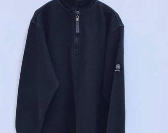 20% OFF Tommy Hilfiger Sweater Vintage 1990s Tommy Hilfiger Sweatshirt Sailing Gear Colourblock Hip Hop Tommy Hilfiger Zipper Sweater