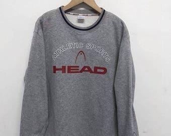 20% OFF Vintage Head 90's Big Logo Sweatshirt Pullover Jumper Hiphop Swag Spellout Jacket Streetwear sz 160