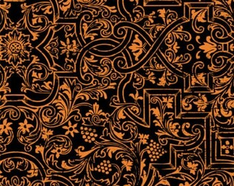 Wilmington Prints - Something Wicked 84383-988 black and orange **Half Yard Cuts**