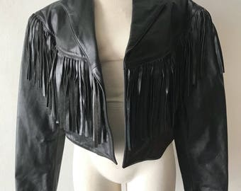 Western leather jacket woman size medium