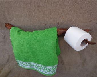 Rare Wooden Towel Rack, Branch Towel Holder, Natural Towel Hanger, Bathroom Towel Bar, Rustic Towel Bar, Wall Towel Bar, Live Edge Holder