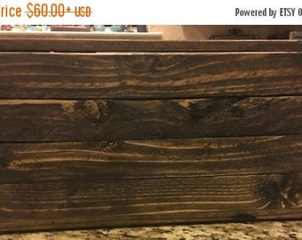 SUMMER SALE Wooden Box  / Storage / Gift / Personalized / Toy storage / Craft Storage / Storage Bin / 18x14x16 / Medium Wood Box / Gifts for