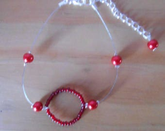 Wedding bracelet circle of life Red