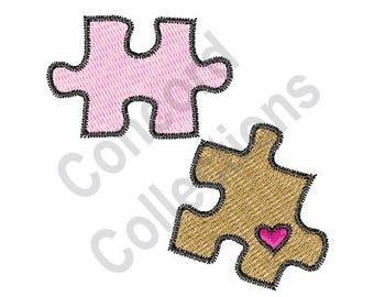 Puzzle Pieces - Machine Embroidery Design