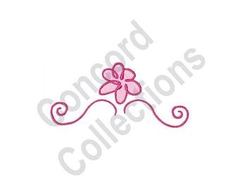 Pink Flower - Machine Embroidery Design, Flower, Swirls