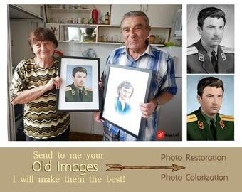 Photo Restoration, Photo Colorization, Vintage Photos, Repair photo, Old Photo Retouching, Photo Restore, Old photos, Anniversary Gift