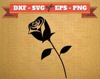 Rose SVG file, couple sihouette, Vector files for cricut, Dxf files rose, DXF files flower, Svg files roses, st valentine