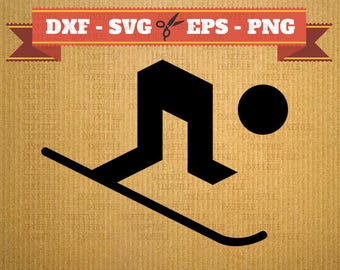 Ski SVG skiing vector files for cricut, ski cutting files, clipart ski, DXF files skiing, silhouette ski, svg ski