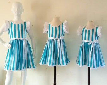 Dress thin children collarless dress 2/4/6 years