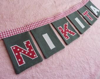 Name Slinger, flags, pennants (handmade)