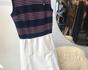 Sold in store. Do not buy. Vintage Seventies 1970s Tennis Dress. Size Medium