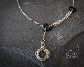Sterling Silver Lariat with Swarovski Crystals