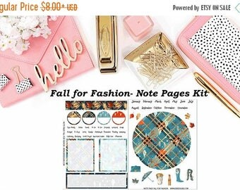 40% Off Sale Fall for Fashion - Erin Condren Notes Pages Kit