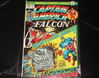 Captain America And The Falcon #178 1974 Bronze Age Steve Englehart Sal Buscema  Marvel Value Stamp Hammerhead VG (7.0)