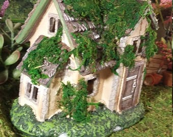 Fairy Garden House, Resin Fairy Garden House For Your Fairy Garden,  Woodland Fairy House