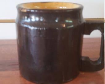 wooden coffee mug 10 oz, flare design