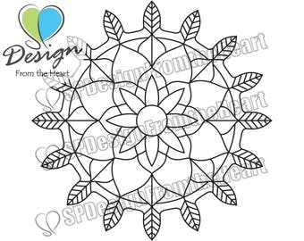 Simple Mandala Coloring Page #7, Printable Adult Coloring Page, Digital Download, Relaxation, Meditation, Peace
