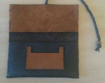 Cow leather tobacco pouch
