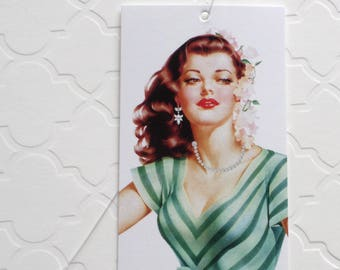 100 FASHION BOUTIQUE ACCESSORIES Clothing Price Tags Pretty Girl in Green With Plastic Loops at Etsy