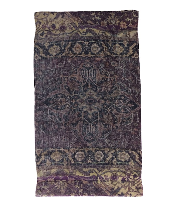 Fresco Towels Casbah Rug Eggplant Bath Towel