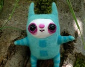 Creepy cute ooak art doll - one of a kind- unique whimsical decor -  fiber art