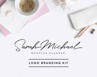 Wedding Planner Logo, Event Planning Branding Kit, Makeup Artist Logo, Photographer Logo, Girl Boss Branding Kit, Minimal Logo, Blog Logo