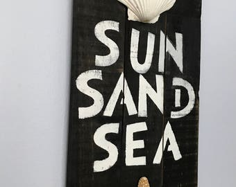 Wood Beach Signs, Nautical Decor, Wood Coastal Art, Wood Beach Decor, Wood Beach Sayings