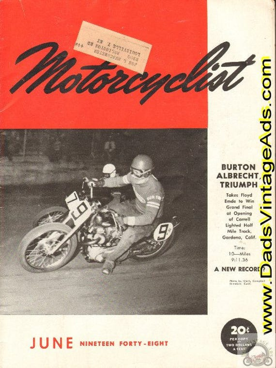 1948 June Motorcyclist Motorcycle Magazine Back-Issue #4806mc