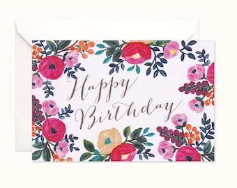 Love Blooms Birthday Card